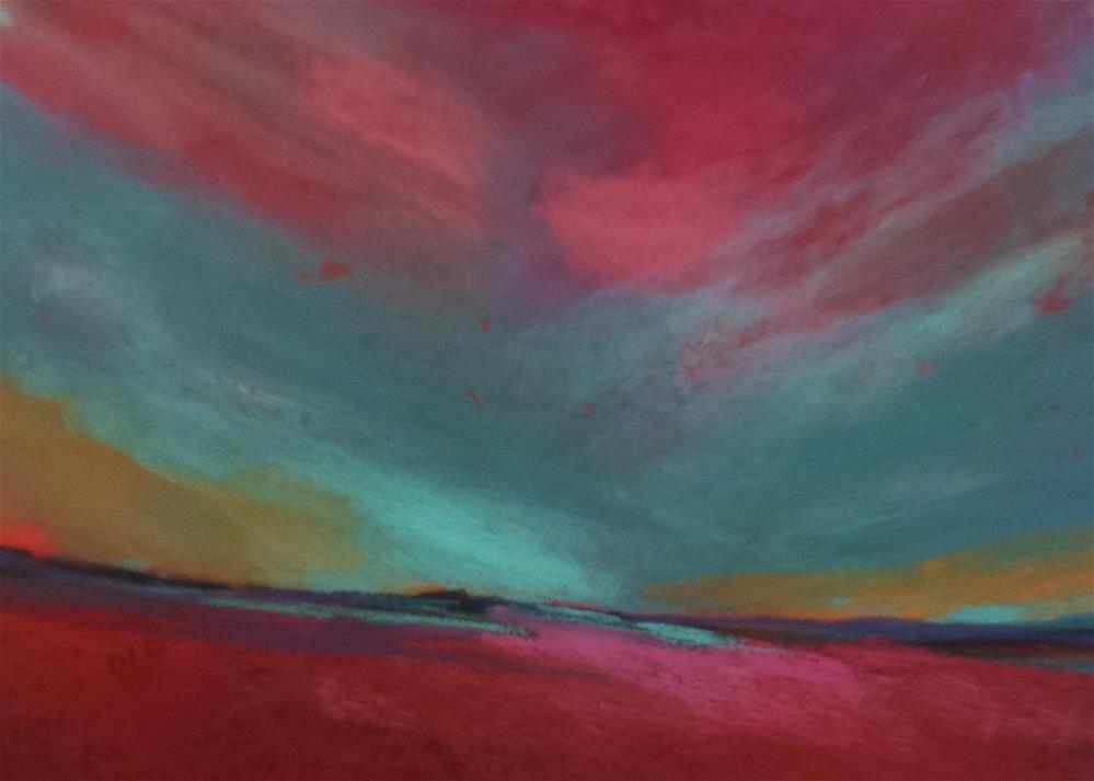 """Moody Blues"" original fine art by Donna Donnon"