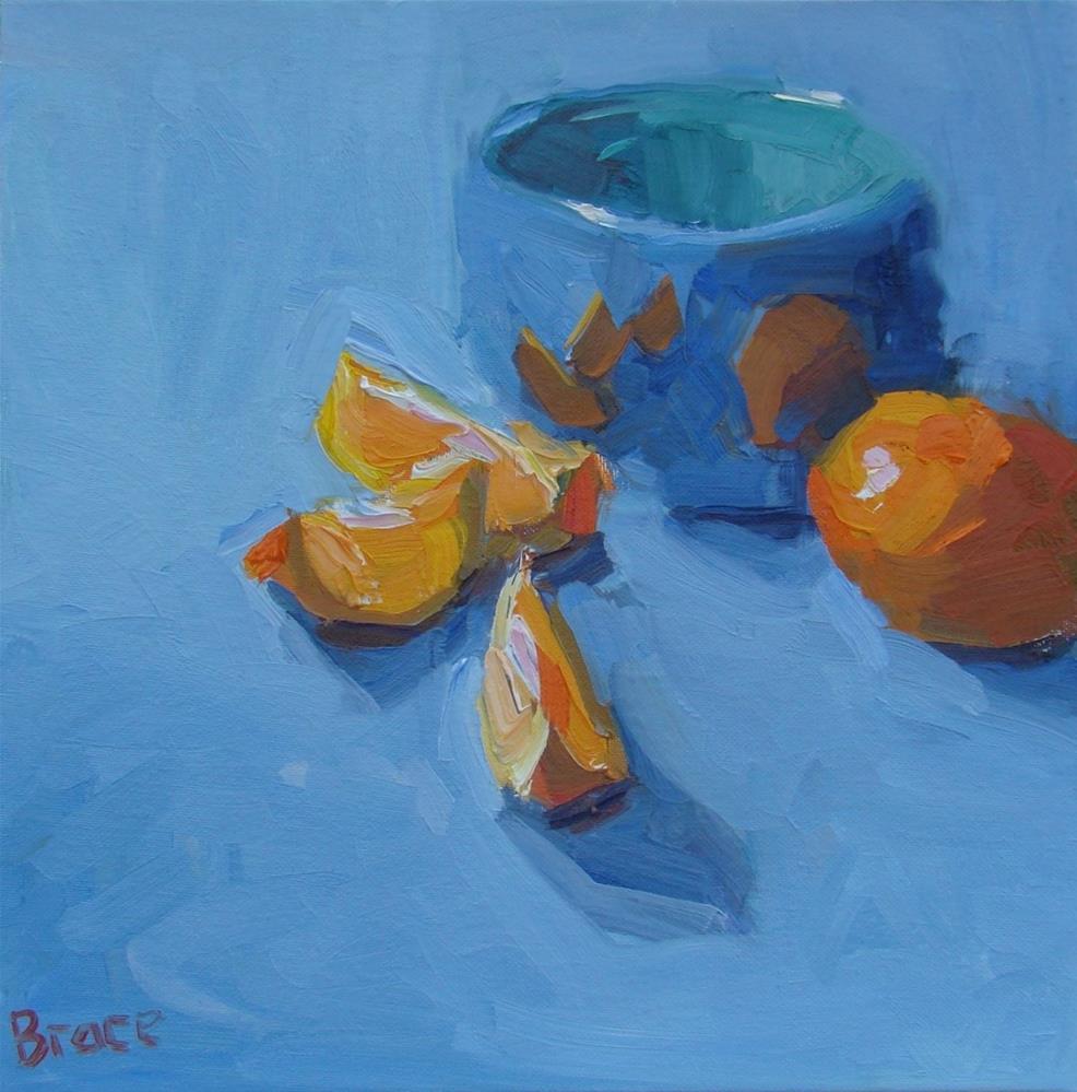 """Orange Slices"" original fine art by Rita Brace"