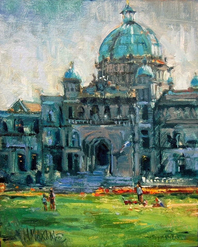 """A Day In Victoria"" original fine art by Mary Maxam"