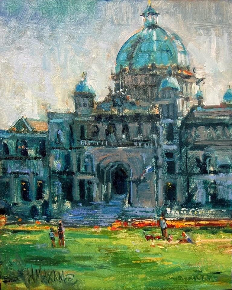 """""""A Day In Victoria"""" original fine art by Mary Maxam"""