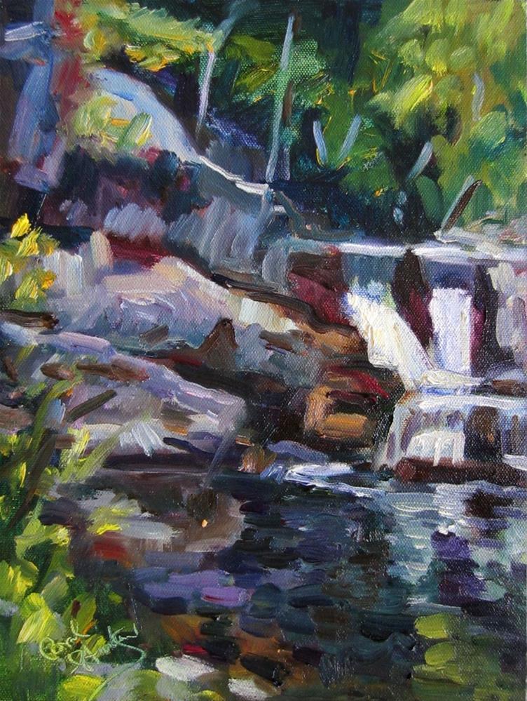 """Linville Falls ii"" original fine art by Carol Steinberg"