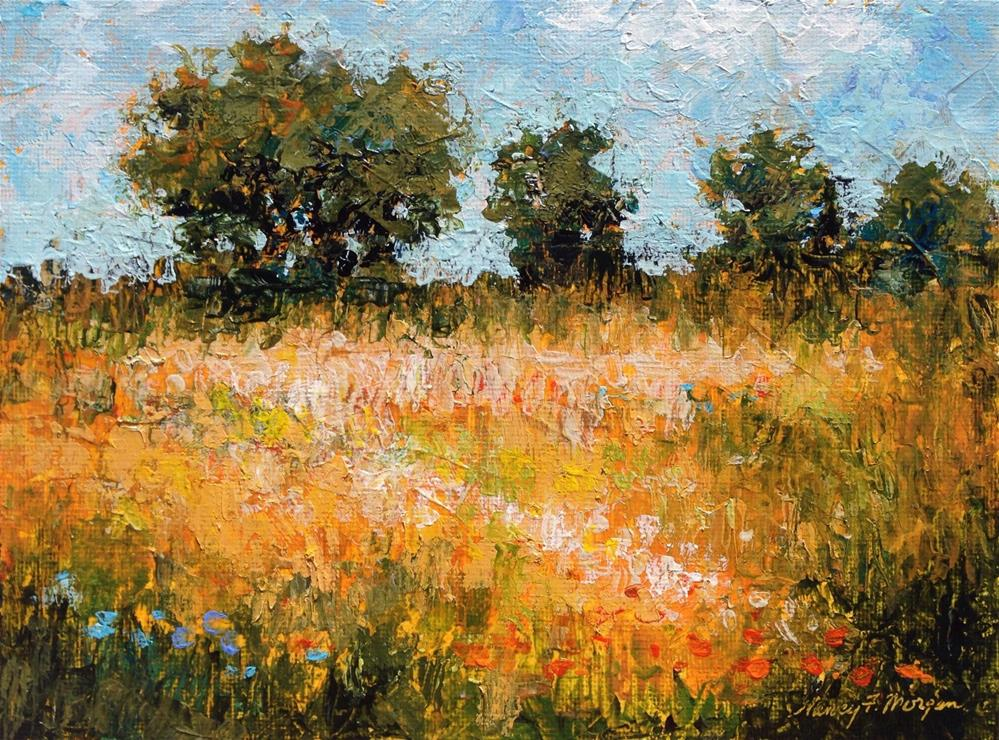 """Golden Field"" original fine art by Nancy F. Morgan"