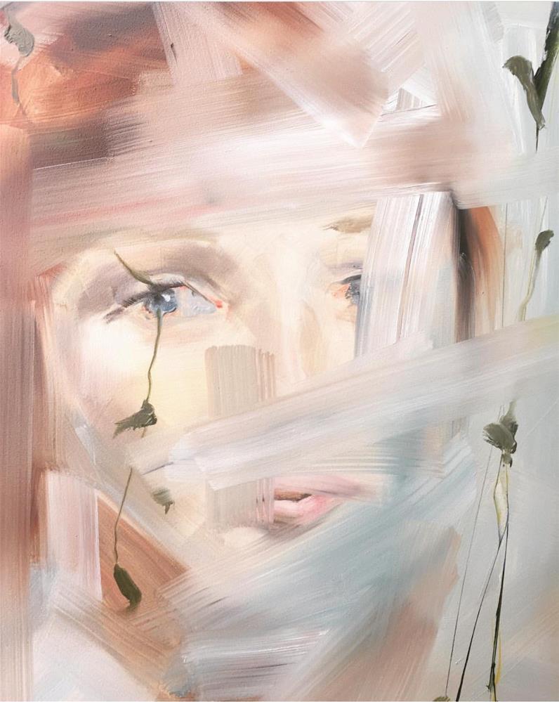 """481 Her Gaze"" original fine art by Jenny Doh"
