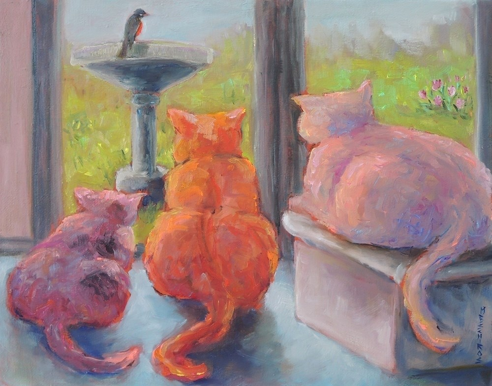 """""""Anticipation"""" original fine art by Mary Schiros"""
