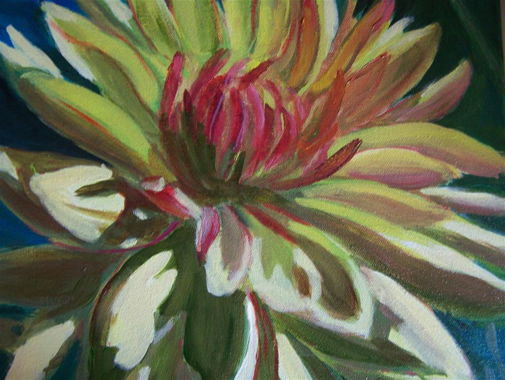 """Dhalia"" original fine art by Joan Reive"