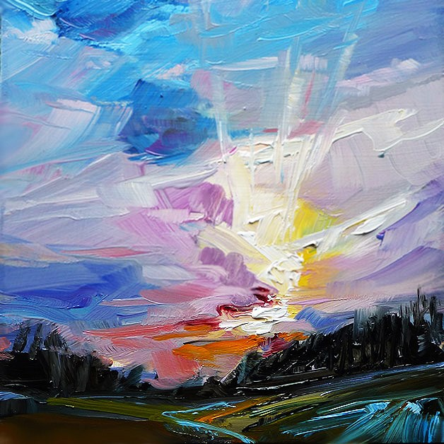 """Land"" original fine art by Jurij Frey"