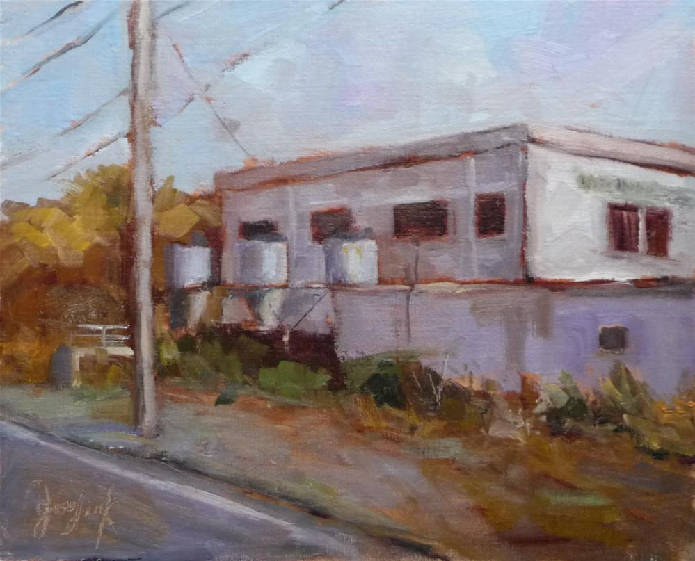"""Power Plant"" original fine art by Carol Josefiak"