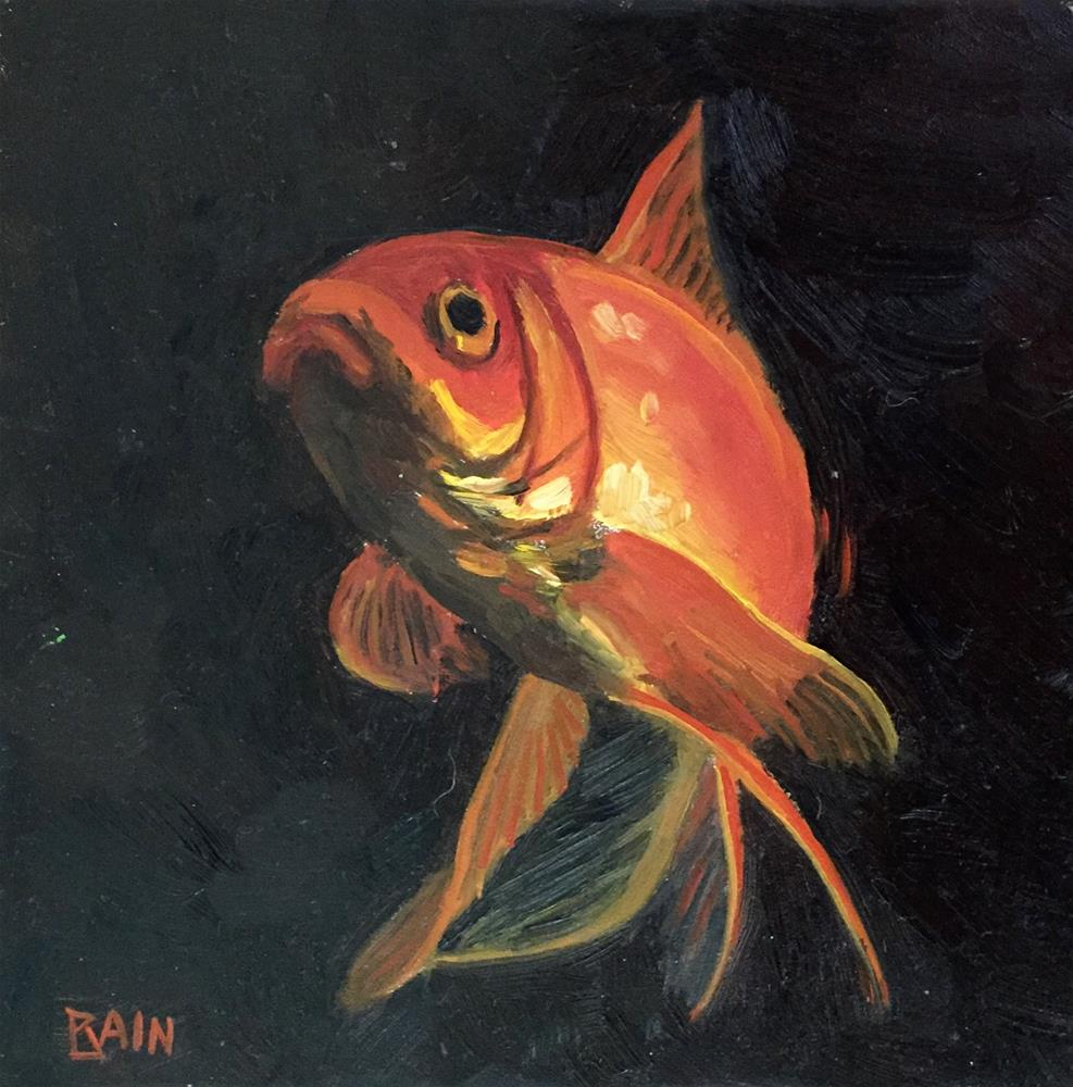 """Goldfish No. 2"" original fine art by Peter Bain"