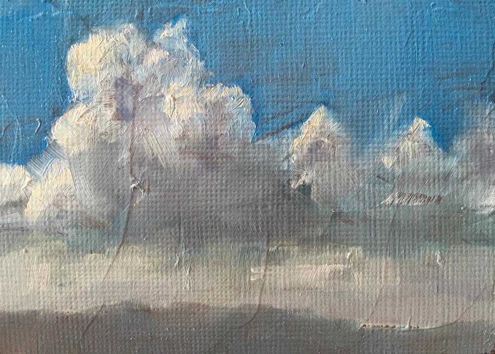 """""""Desert Clouds"""" original fine art by Gary Bruton"""