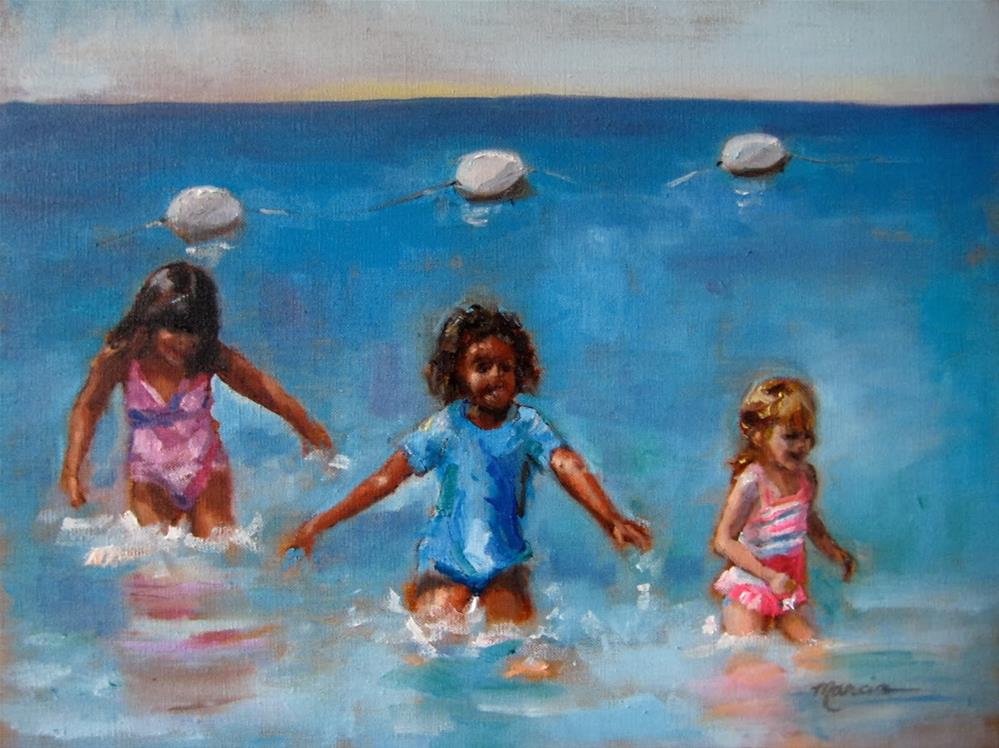 """Fun in the Sun"" original fine art by Marcia Hodges"