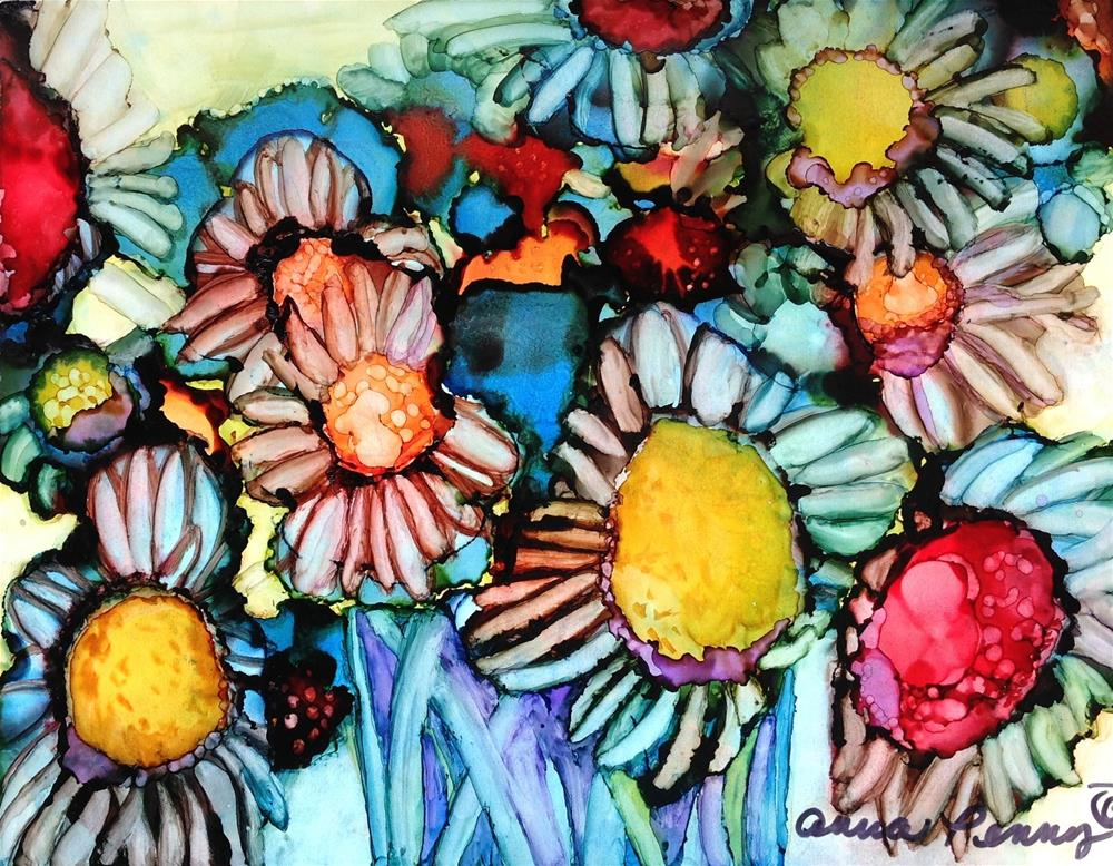"""Flower Power"" original fine art by Anna Penny"