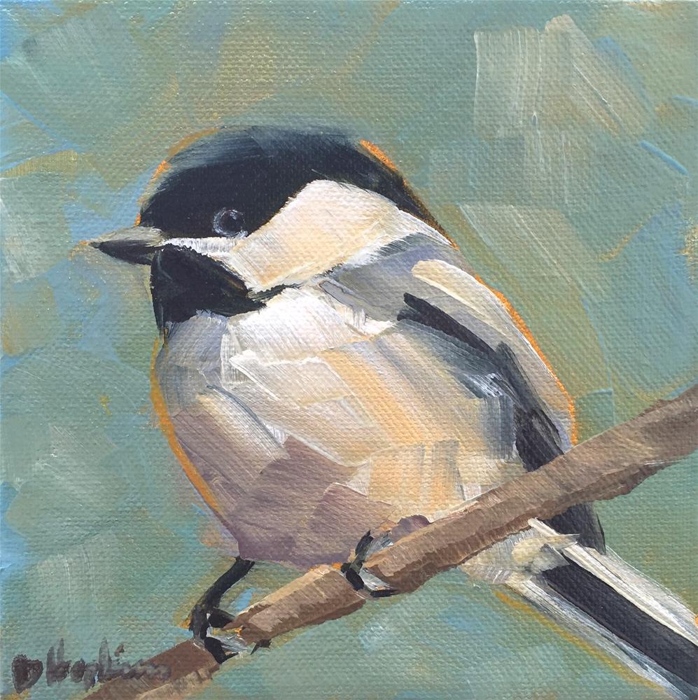 """Chickadee 1"" original fine art by Denise Hopkins"