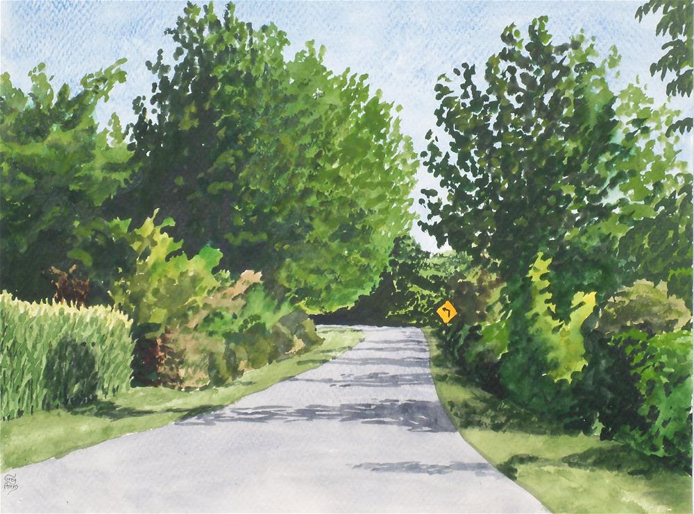"""Tanyard Rd."" original fine art by Greg Arens"