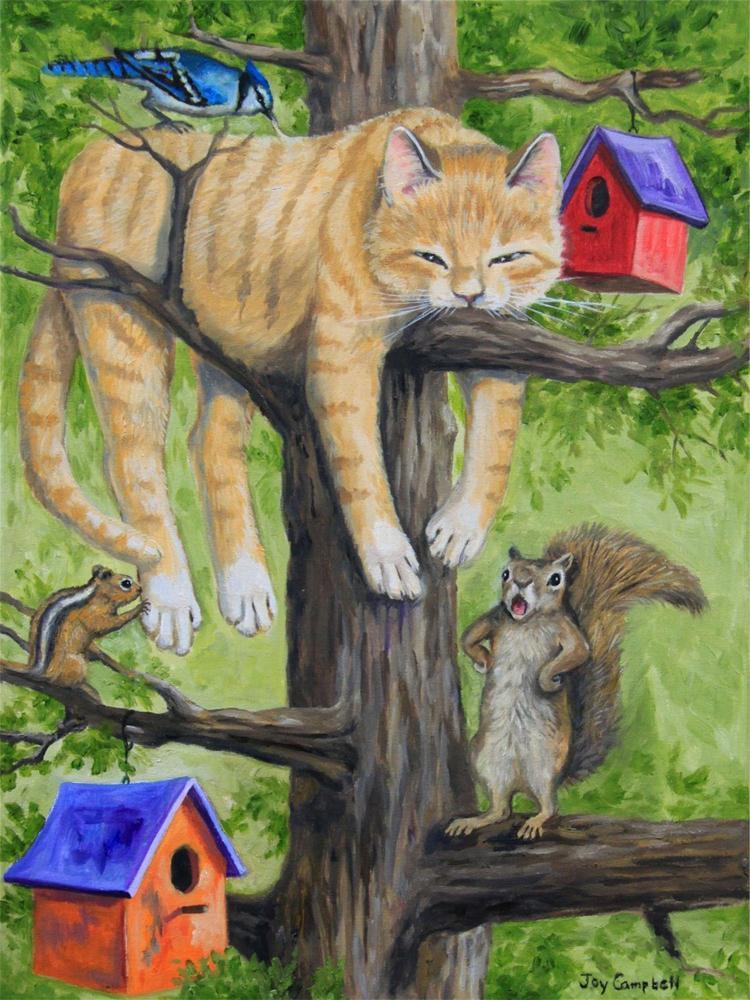 """Hiding Out"" original fine art by Joy Campbell"