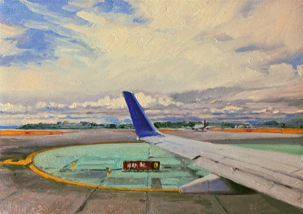 """The Taxi"" original fine art by Ski Holm"