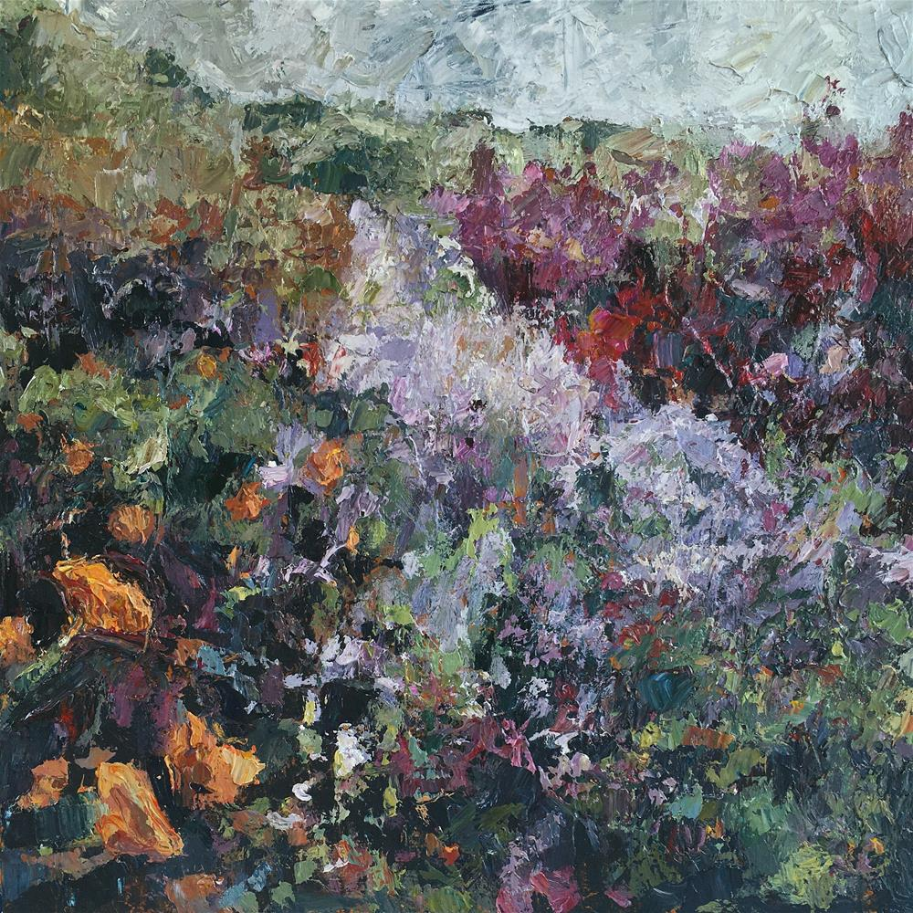"""Wildflower Abstract 7"" original fine art by Nava Judith"