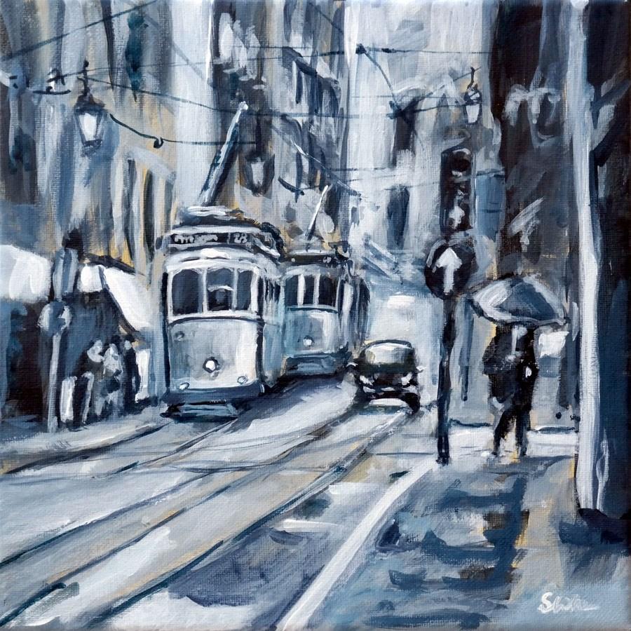 """1271 Fifty Shades of Grey"" original fine art by Dietmar Stiller"
