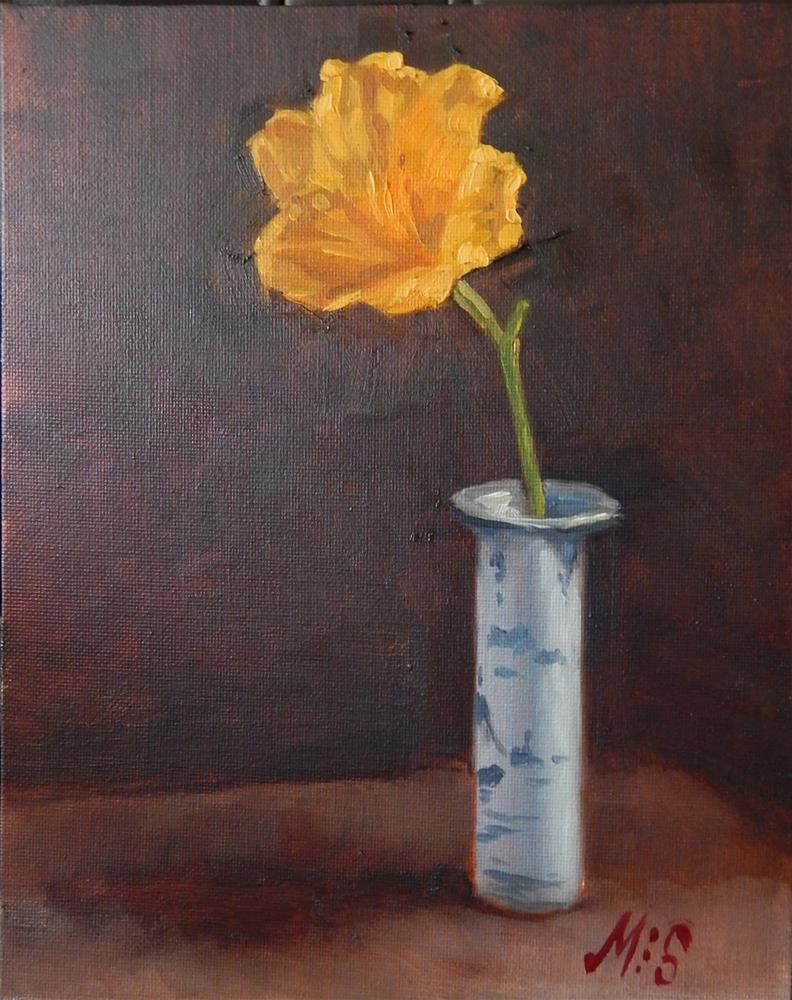 """Yellow Lily"" original fine art by Megan Schembre"