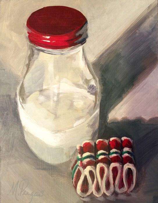 """For Santa"" original fine art by Mary Pargas"