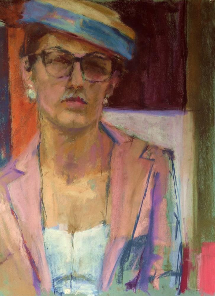 """""""Sunday Hat"""" original fine art by Katie Wilson"""