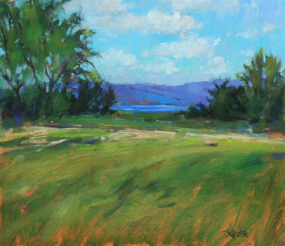 """Glimpse of Rice Lake"" original fine art by Jane Robertson"