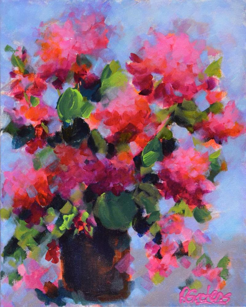 """Garden Geraniums"" original fine art by Pamela Gatens"