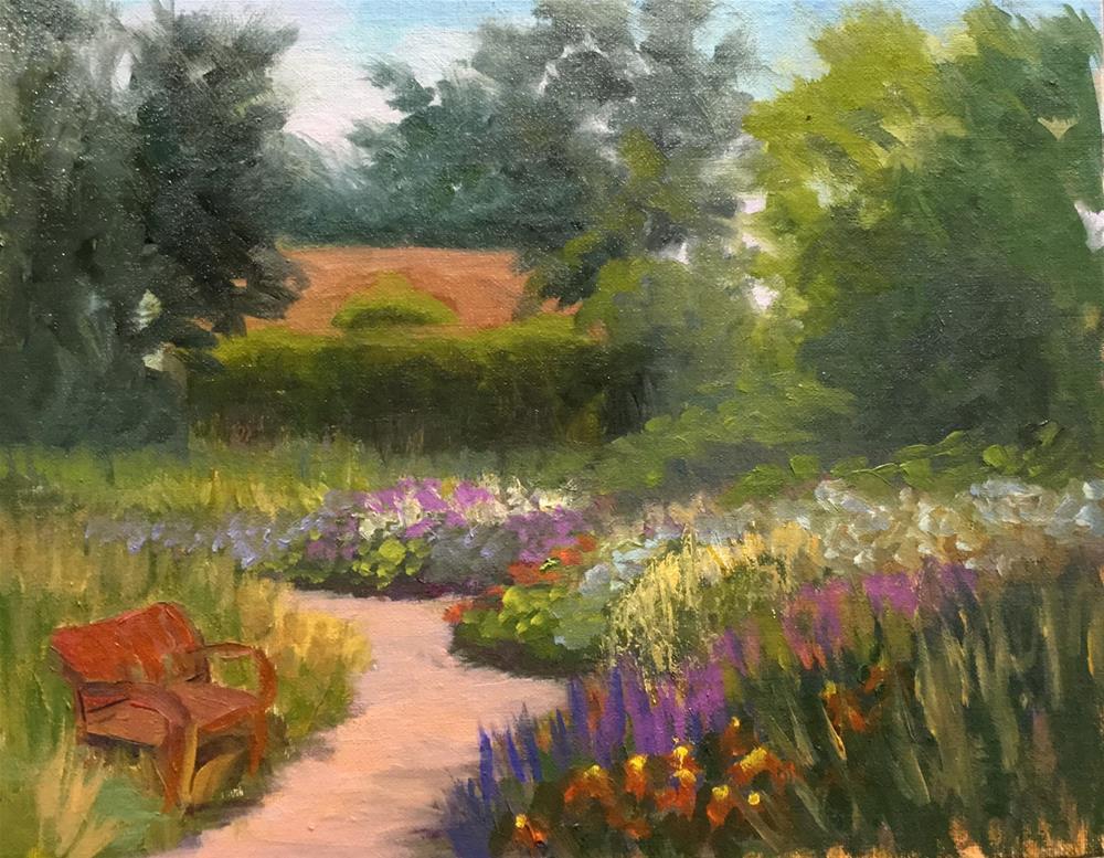 """Loring Park Garden Shed"" original fine art by Judith Anderson"