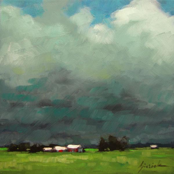 """The Grass is Greener"" original fine art by Karin Jurick"