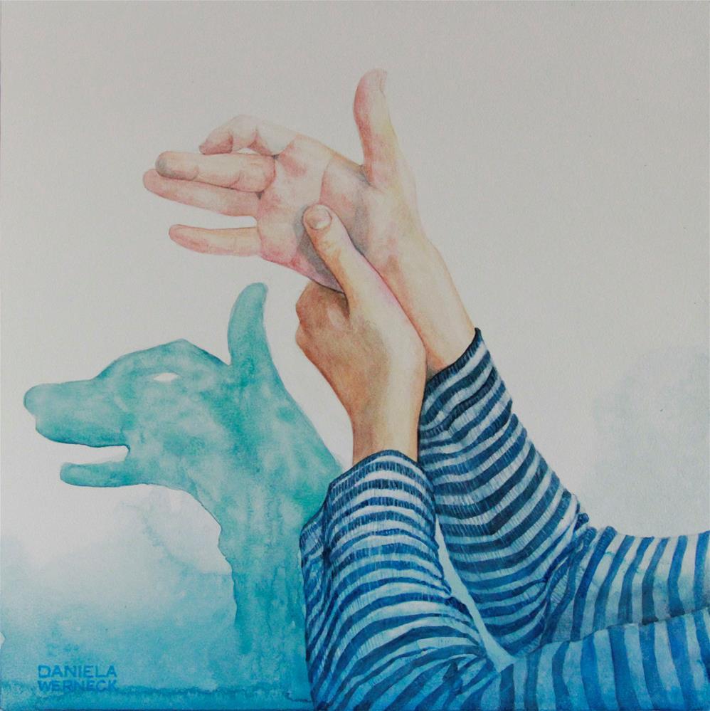 """""""The Shadow of a Wolf"""" original fine art by Daniela Werneck"""