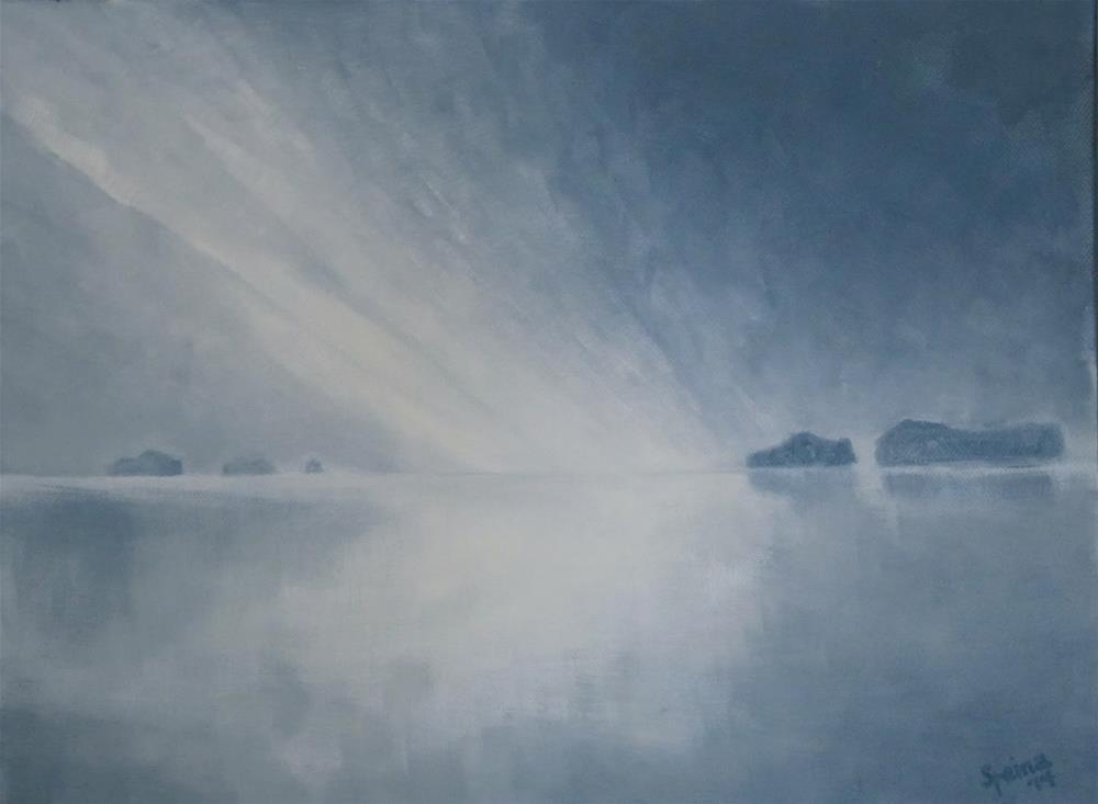 """Dawn"" original fine art by Steinunn Einarsdottir"