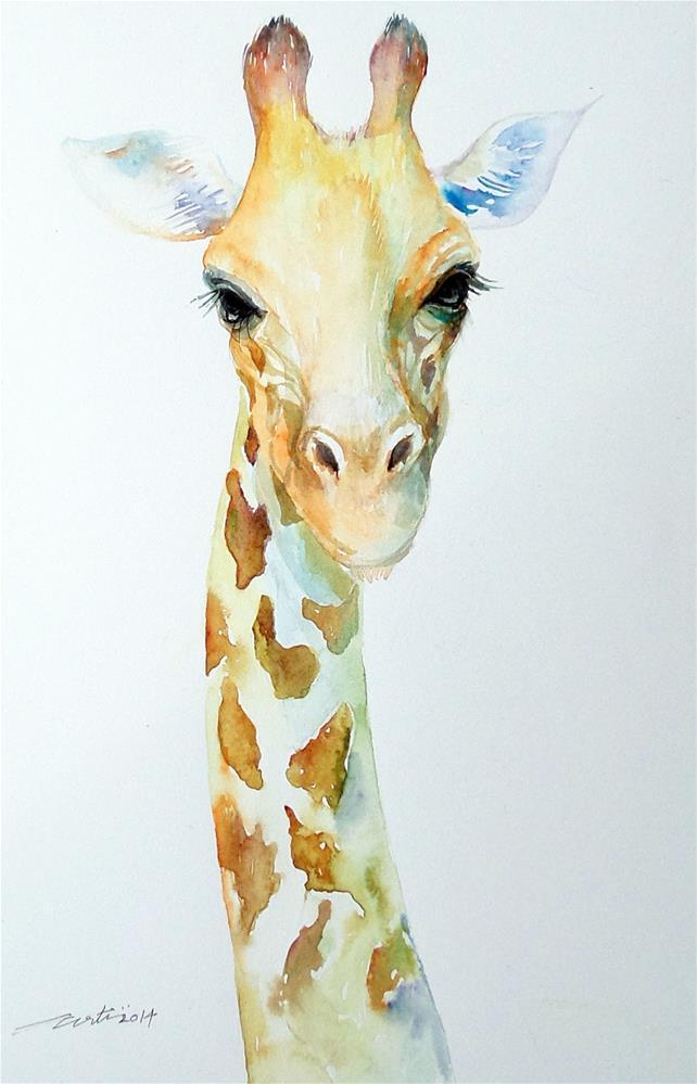 """""""Pale Pal Giraffe"""" original fine art by Arti Chauhan"""