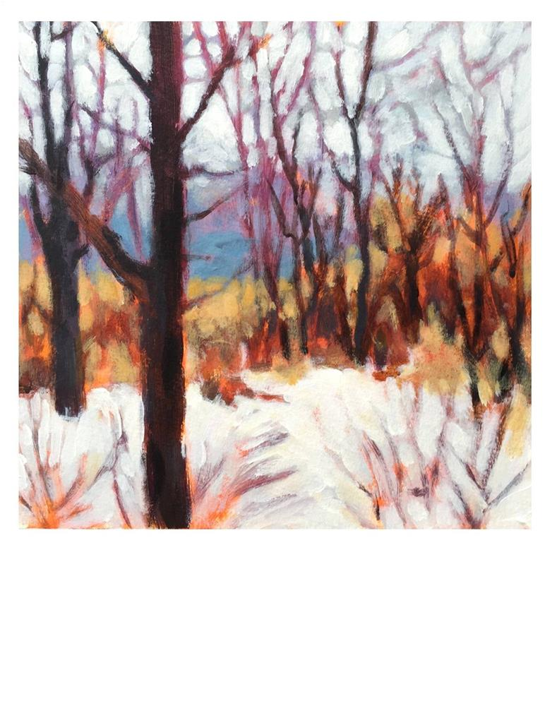 """April Snow Day"" original fine art by Suzanne Woodward"
