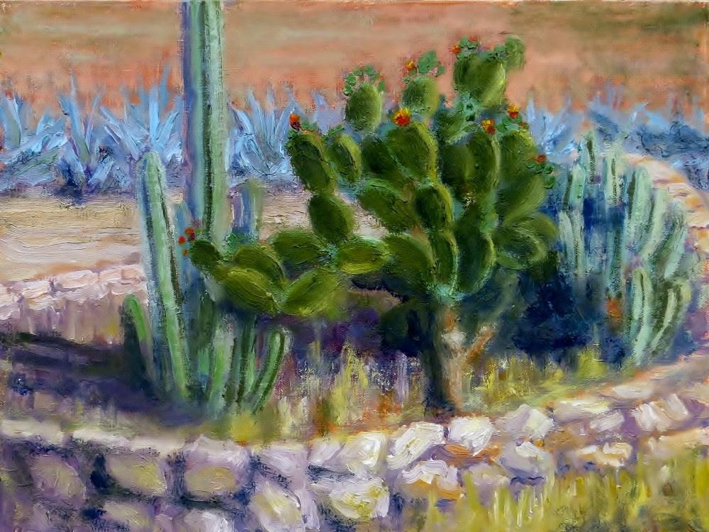 """Cactus Garden"" original fine art by Richard Kiehn"