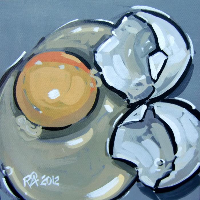 """""""Broken egg"""" original fine art by Roger Akesson"""