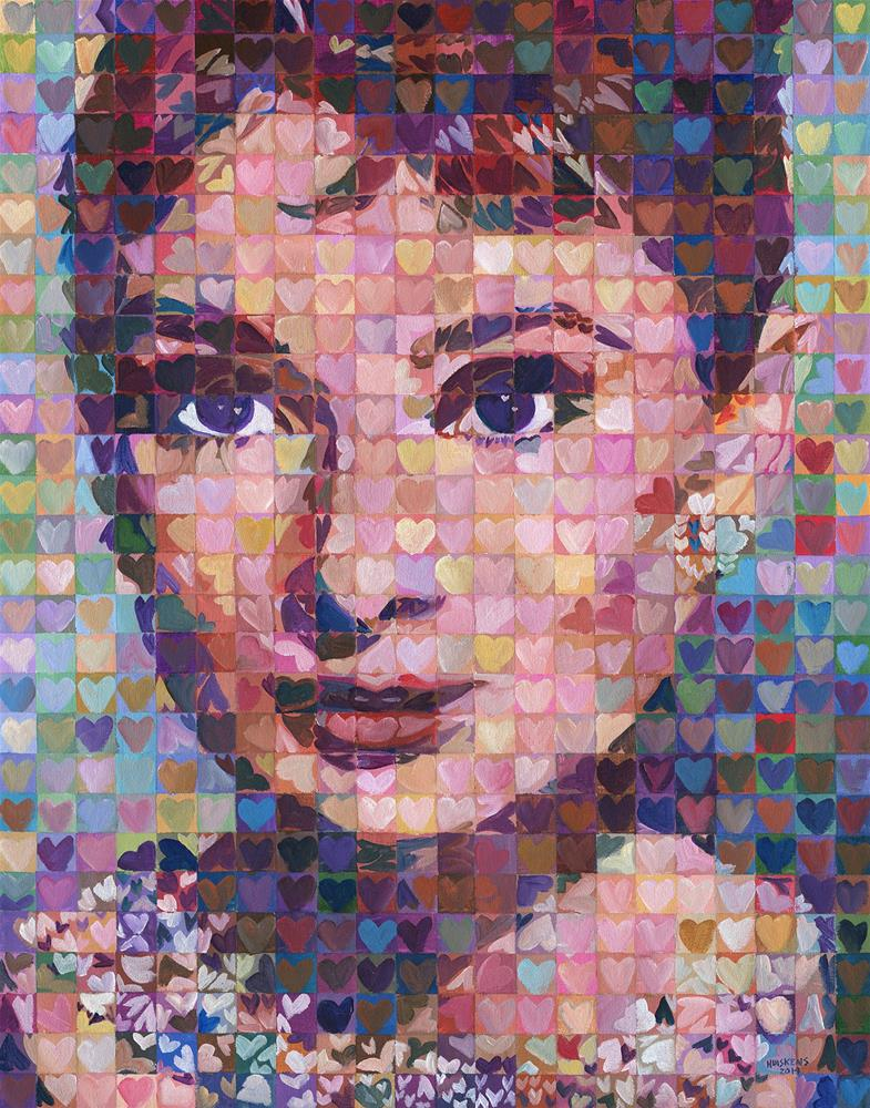 """I ♥ Audrey Hepburn"" original fine art by Randal Huiskens"