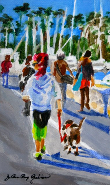 """Walking the Marina"" original fine art by JoAnne Perez Robinson"