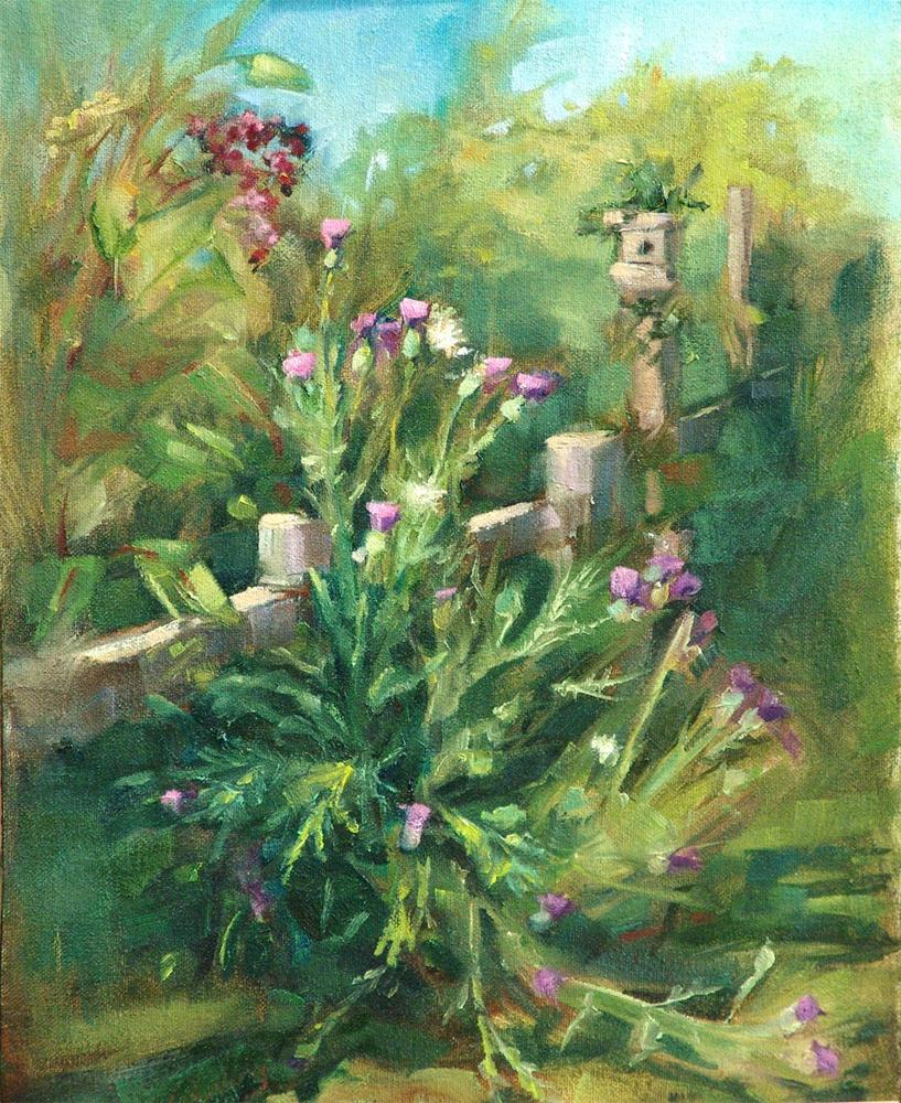 """Thistle Weed"" original fine art by Barbara Schilling"