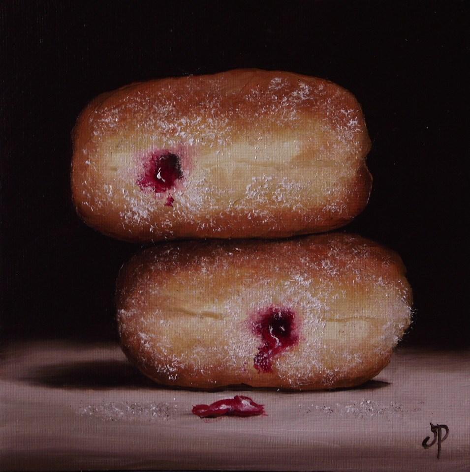 """Jam Donuts #14"" original fine art by Jane Palmer"
