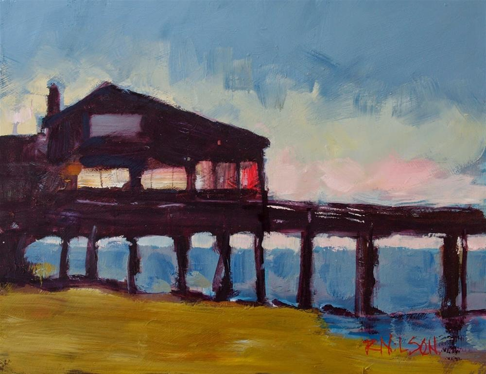 """Nags Head Pier"" original fine art by Rick Nilson"