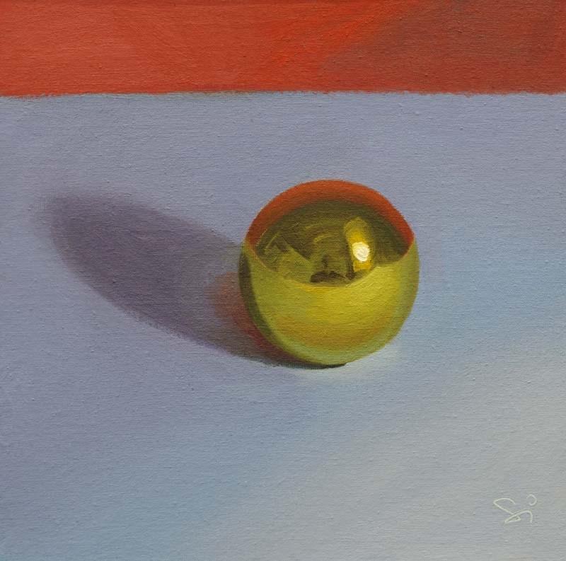 """Golden ball"" original fine art by Istvan Schaller"