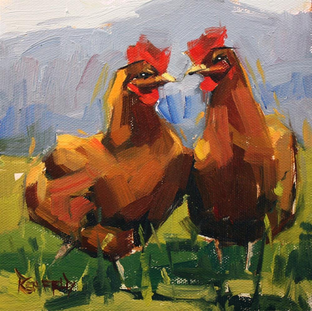 """Chicken Heart"" original fine art by Cathleen Rehfeld"