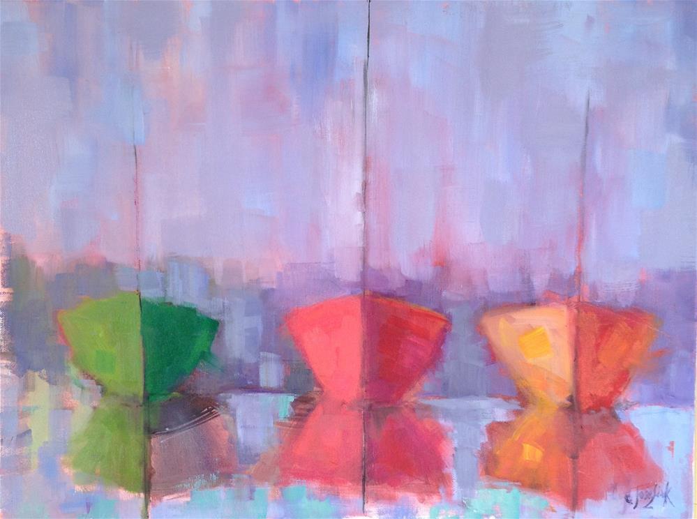 """Abstract2"" original fine art by Carol Josefiak"