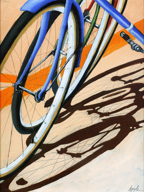 """Three Wheels"" original fine art by Linda Apple"