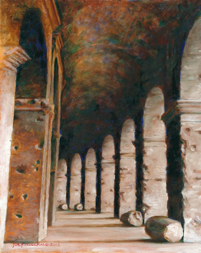 """Colosseum VI"" original fine art by Joe Fitzgerald"