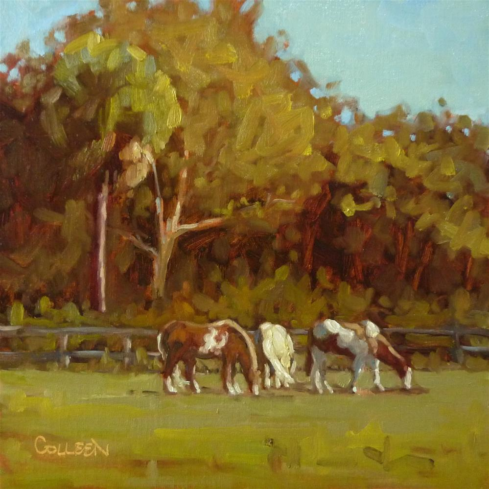 """Paint Ponies"" original fine art by Colleen Parker"