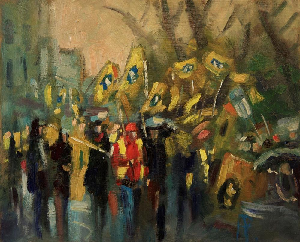 """Brighton Marchers"" original fine art by Andre Pallat"