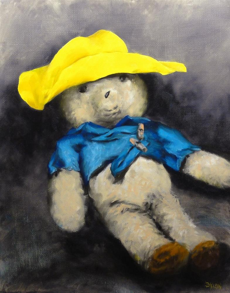 """Paddington Bear"" original fine art by Dalan Wells"