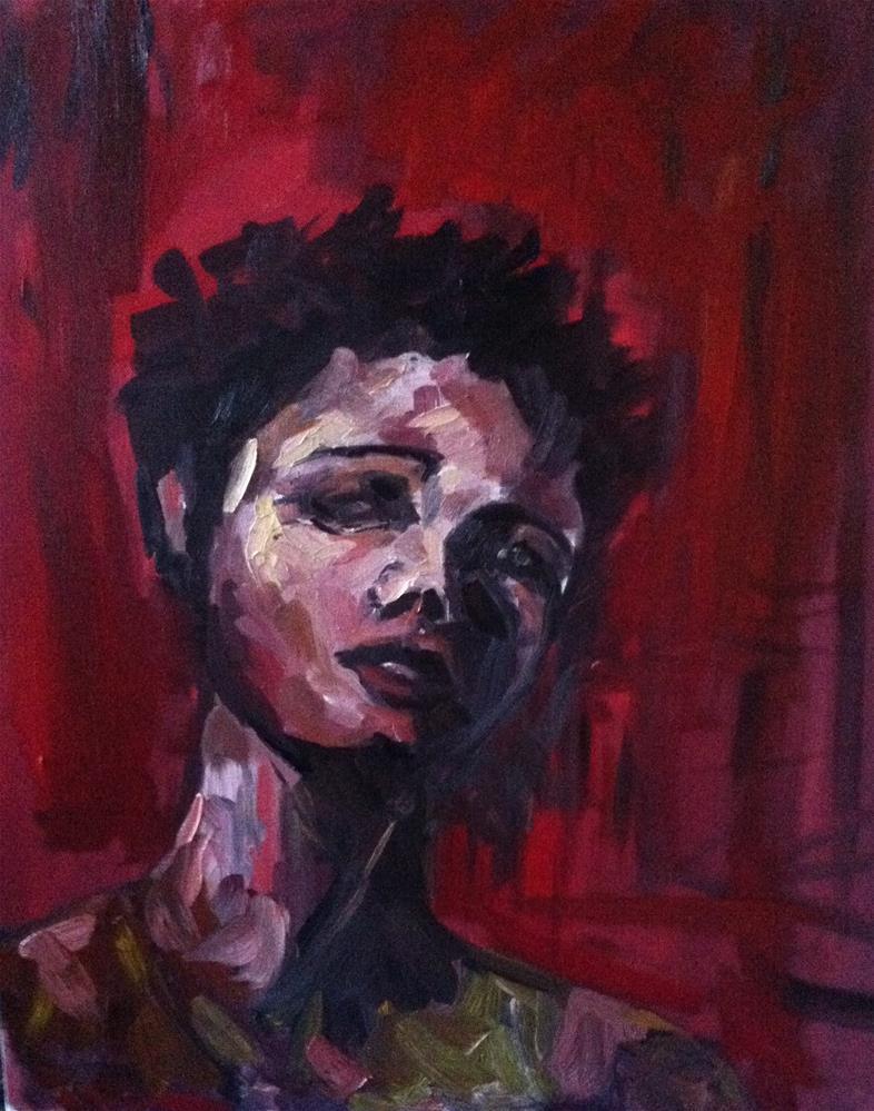 """RED"" original fine art by paul smith"