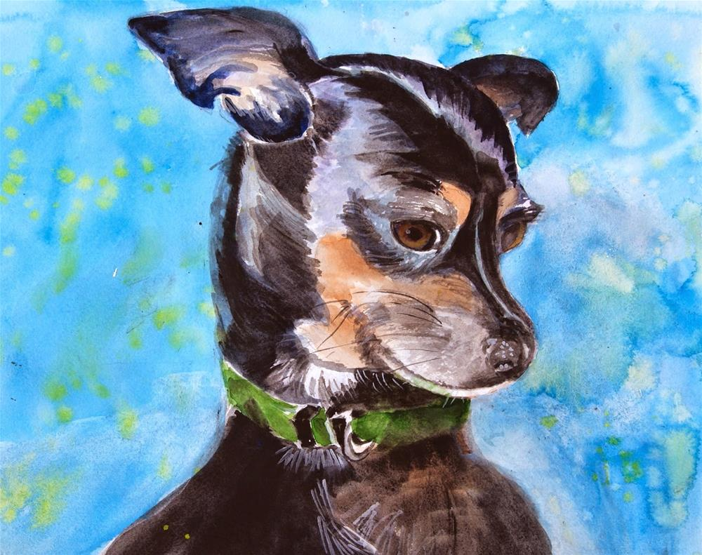 """Portrait of Bean the Chihuahua"" original fine art by Reveille Kennedy"