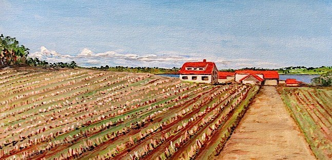 """After the Harvest"" original fine art by Nan Johnson"